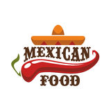 Mexican food vector icon or emblem Royalty Free Stock Photos