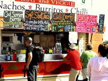Mexican food wagon, Swanage, Dorset Stock Photography