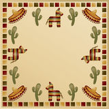 Mexican frame. With motifs and space for text Stock Image