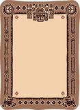 Mexican Frame. Mexican Pattern Template Frame with Copyspace royalty free illustration