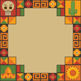 Mexican frame decoration Royalty Free Stock Images
