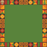Mexican frame decoration Stock Image