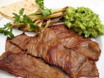 Mexican Fried Beef (Cecina) Royalty Free Stock Photo