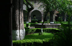 Mexican garden. Mexican court-yard Stock Image