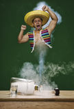 Mexican Genie. A mexican Genie that live on a tequila bottle stock photo