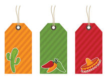 Mexican gift tags Stock Image