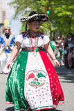 Mexican girl. With sombrero - The Cinco de Mayo Parade in New York City.Photo taken  on May 8, 2011 Royalty Free Stock Image