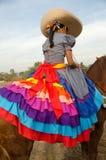 Mexican girl on horseback Stock Photos