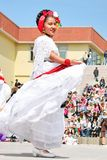 Mexican girl performs folk dance Royalty Free Stock Image