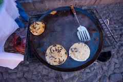 Mexican gorditas street food Stock Images