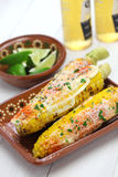 Mexican grilled corn, elote Stock Photography