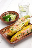 Mexican grilled corn, elote Stock Images