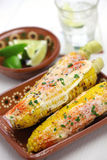 Mexican grilled corn, elote Stock Photo