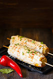 Mexican grilled corn. Stock Photo