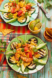 Mexican Grilled Shrimp Salad Stock Photo