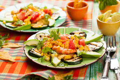 Mexican Grilled Shrimp Salad stock photos
