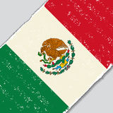 Mexican grunge flag. Vector illustration. Stock Photography