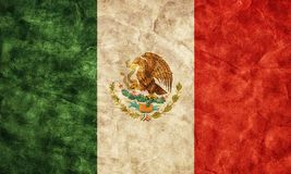 Mexican grunge flag. Vintage style Royalty Free Stock Photos