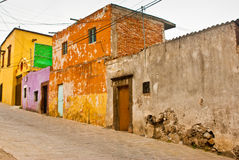 Mexican Grunge Houses Stock Images
