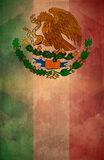 Mexican Grunge poster background - flag Royalty Free Stock Photos