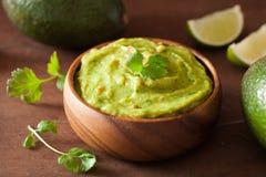 Mexican guacamole dip healthy food Royalty Free Stock Photo