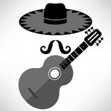 Mexican Guitar Royalty Free Stock Photo