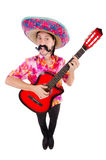 Mexican guitar player Stock Photography