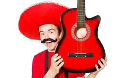 Mexican guitar player Stock Photo