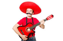 Mexican guitar player Stock Photos