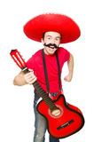 Mexican guitar player Royalty Free Stock Image