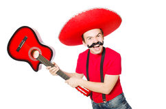 Mexican guitar player Royalty Free Stock Photography