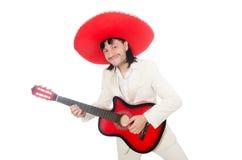 Mexican guitar player Royalty Free Stock Photos