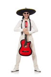 Mexican guitar player Royalty Free Stock Photo