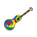 Mexican Guitar on the white background Royalty Free Stock Photos