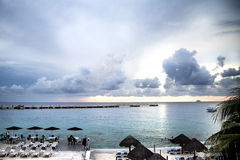 Mexican gulf sea view Stock Images