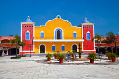 Mexican Hacienda. In the Mayan Riviera, Mexico stock photos