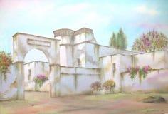 Mexican Hacienda On Puebla Royalty Free Stock Photos