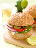 Mexican hamburger Royalty Free Stock Photos