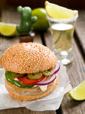Mexican hamburger Stock Images