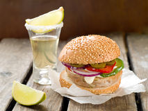 Mexican hamburger Royalty Free Stock Photography