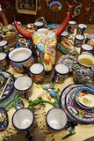 Mexican china and handcraft. Mexican hand made china and handcraft in good quality and different colors and patterns stock images