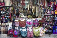 Mexican Handicrats. Stand at a flea market Stock Image