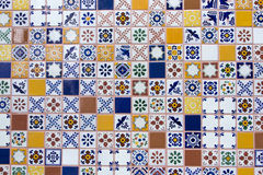 Mexican handmade ceramic tiles Royalty Free Stock Image