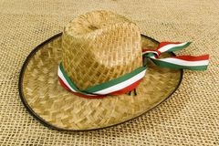 Mexican hat. Colorful mexican tri band sombrero hat Stock Image