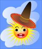 Sun with a Mexican hat Stock Images