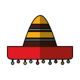Mexican hat isolated icon Stock Photo