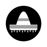 Mexican hat isolated icon Royalty Free Stock Images