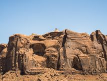 Mexican Hat Restricted Area, Monument Valley Royalty Free Stock Images