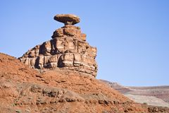 Mexican Hat rock formation Royalty Free Stock Photography