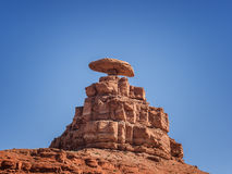 Mexican Hat rock formation in Monument Valley, Utah Stock Photos